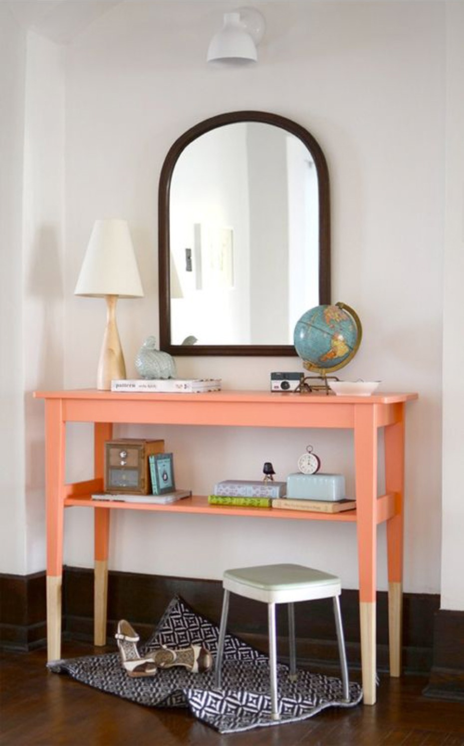dip paint peach table