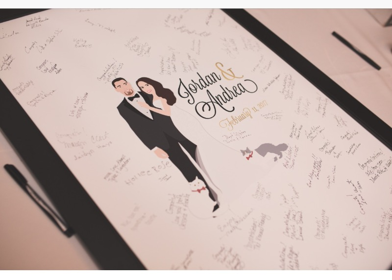 We LOVE when clients send in photos of their guest book alternatives with all their guests' signatures and wonderful messages!! This