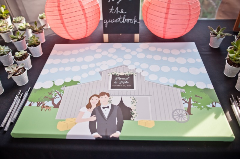 Let's talk about rustic weddings! They are IN, and we absolutely love it when clients add their barn venue on to their guest book alternatives