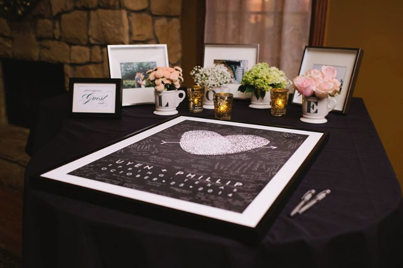 Something for your wedding that is truly unique. A guest book alternative that can be made with your own fingerprints. Pick your