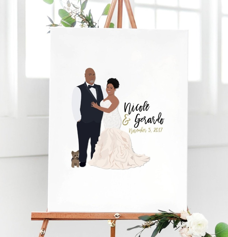 If you're looking for the perfect guest book alternative, check out The Penny! Miss Design Berry designs you and your significant other