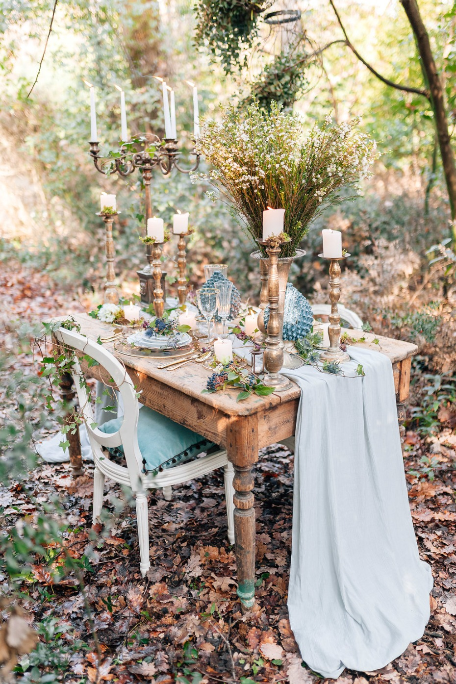 romantic and whimsical wedding table