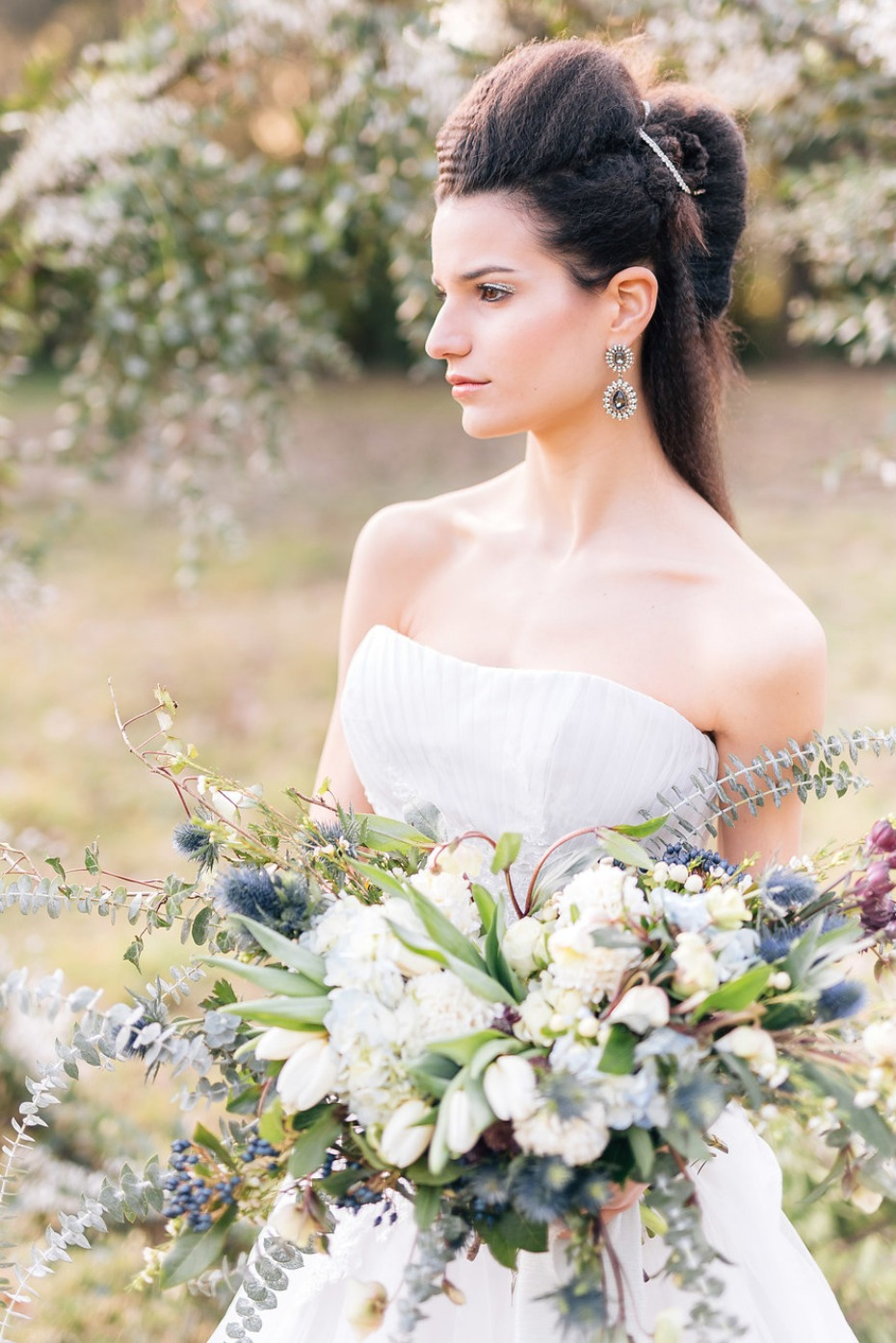 Powder Blue And Gold Romantic Victorian Woodland Wedding Ideas