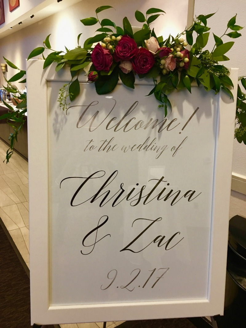 Welcome signs really 'up' the look of any ceremony and reception space! Miss Design Berry will work with you to create the perfect