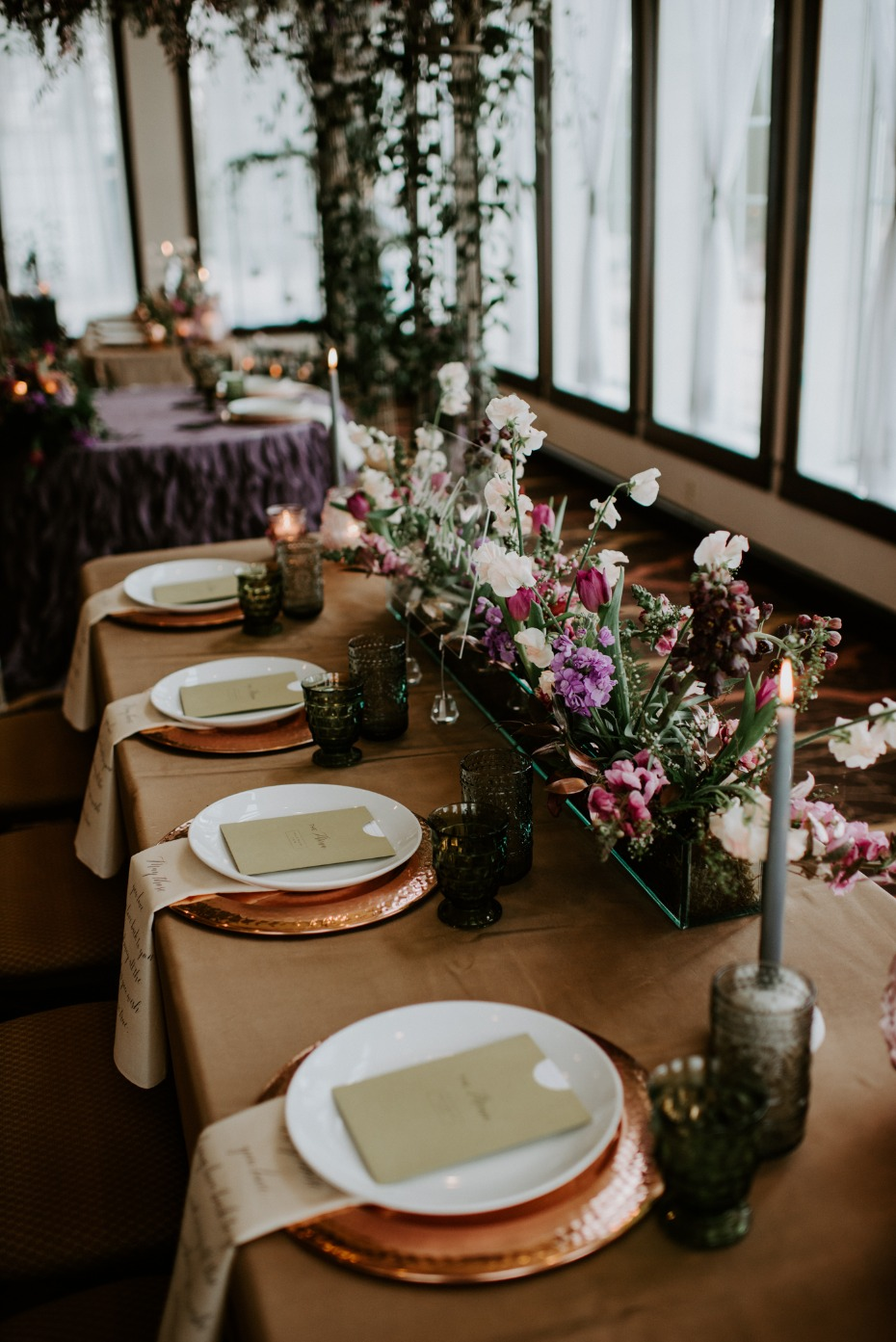 Simple tablescape for a spring wedding