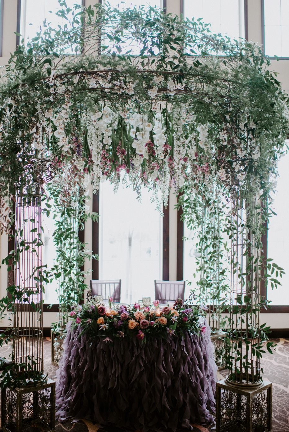 Flower filled sweetheart table