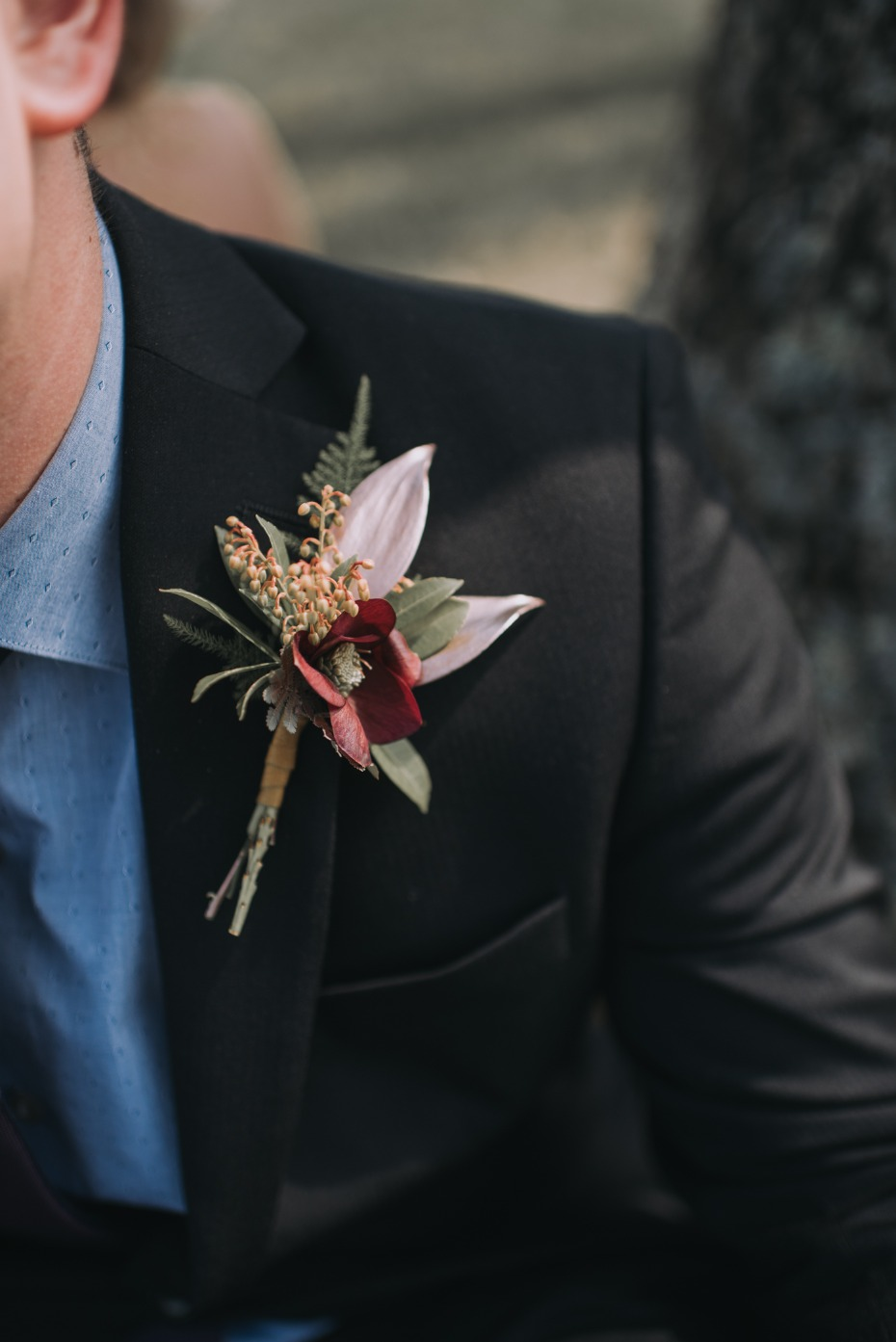 Spring inspired boutonniere