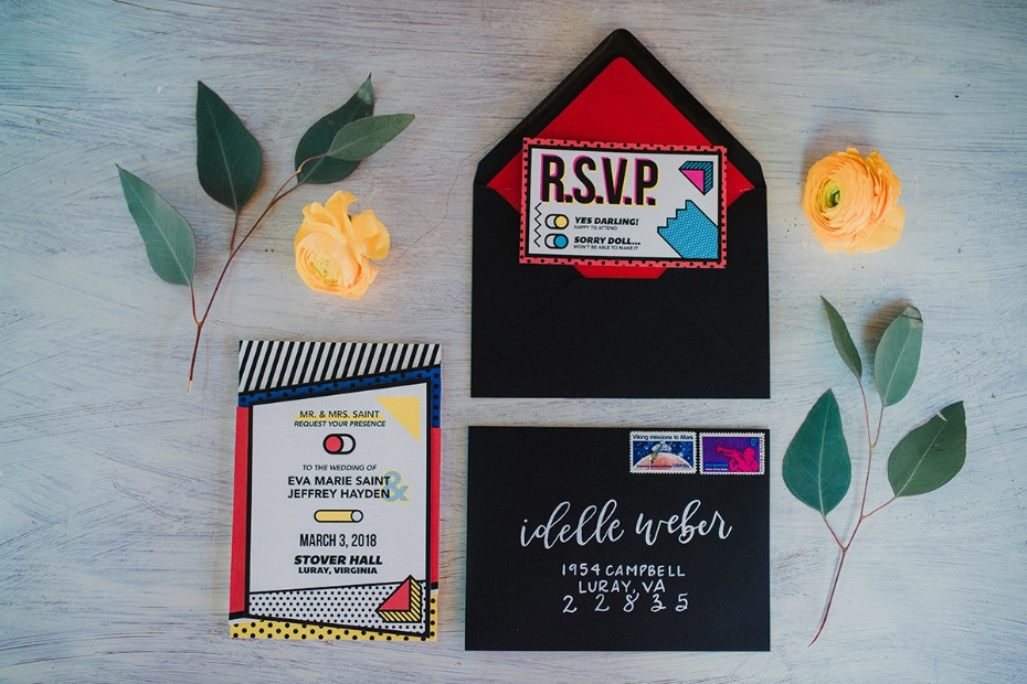 pop art wedding invitations