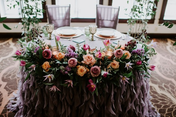 Rose Gold and Violet Garden Inspiration Perfect for Spring Weddings