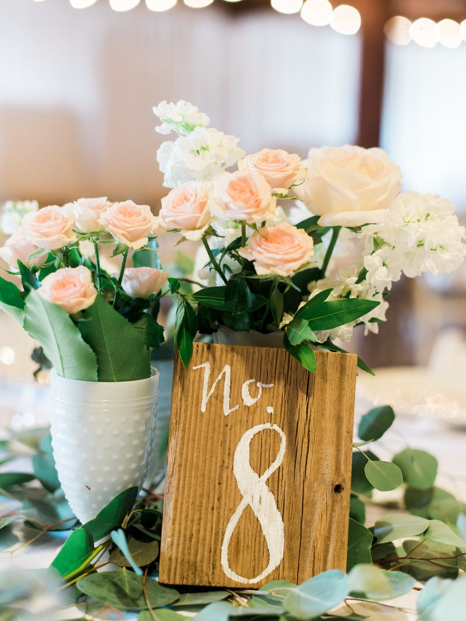 Wood table number idea