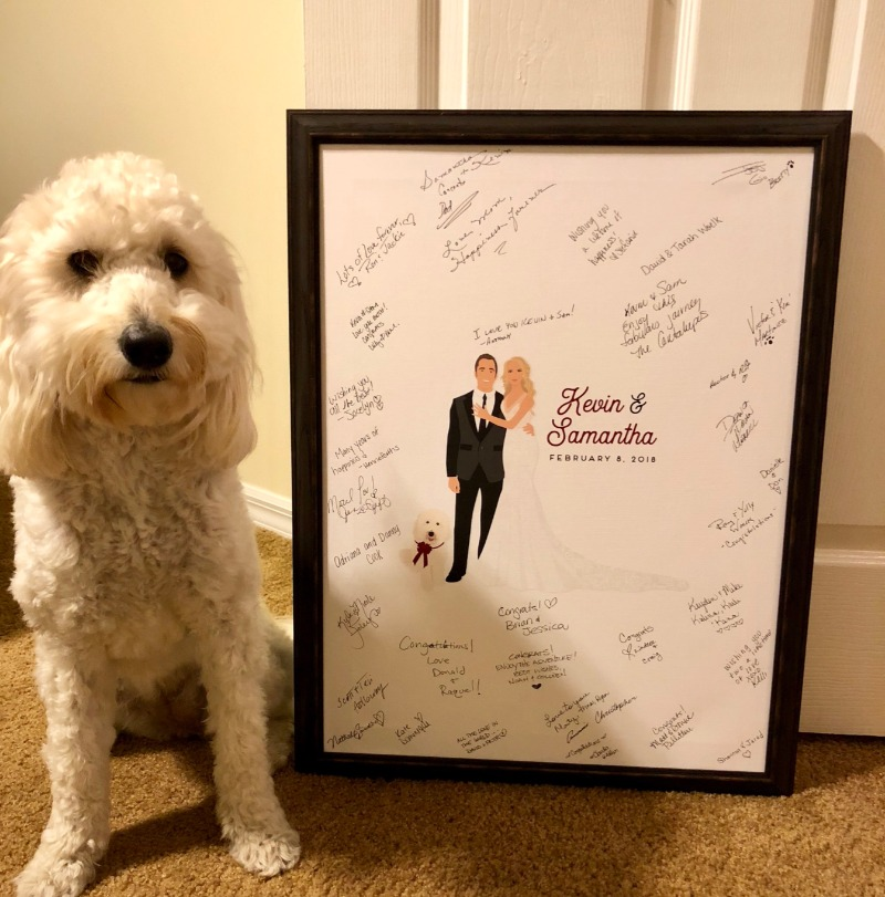 We LOVE adding your pets to your design, and we absolutely LOVE when you send in photos of your adorable pet NEXT to your amazing guest