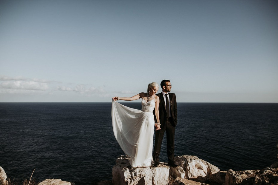 sea side wedding photos