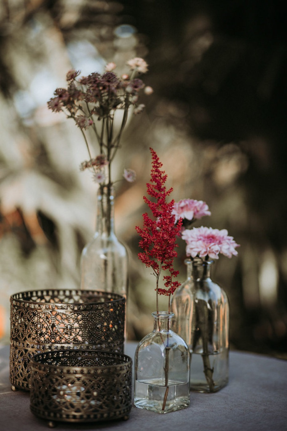 simple and sweet wedding table decor