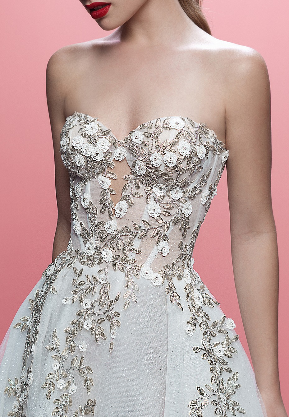 Silver and white wedding ball gown - The Aelin by Galia Lahav