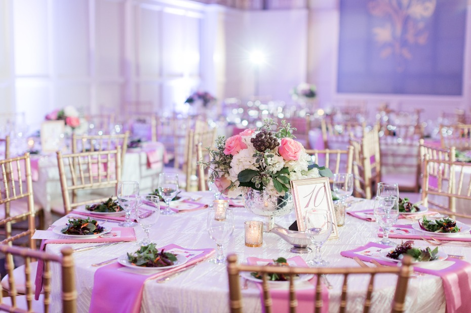Luxury reception design