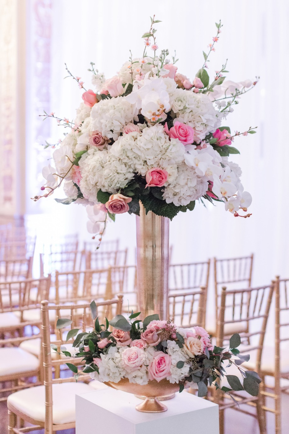 Tall ceremony bouquet