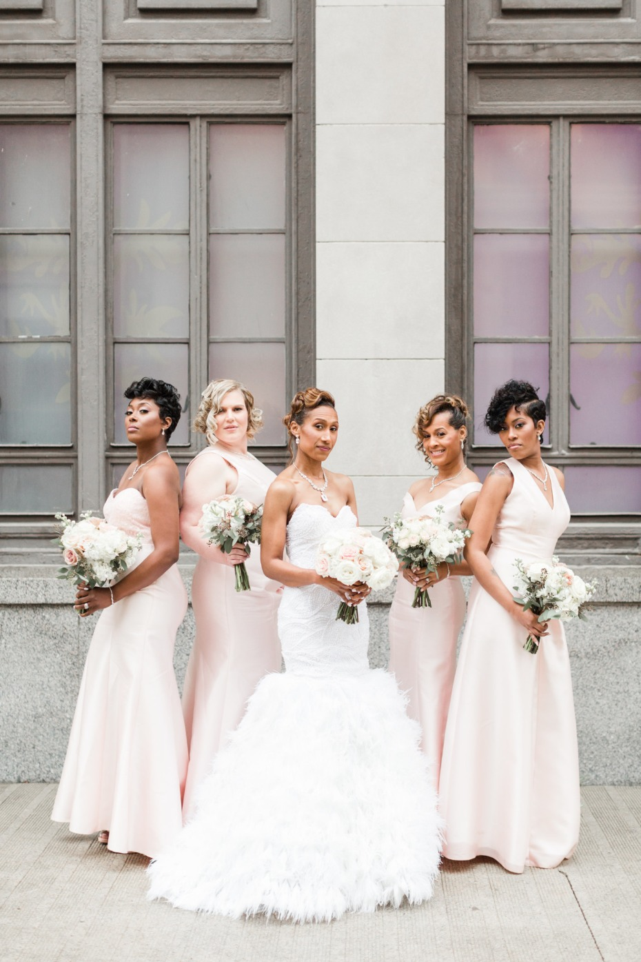 Bridesmaid #squad in blush