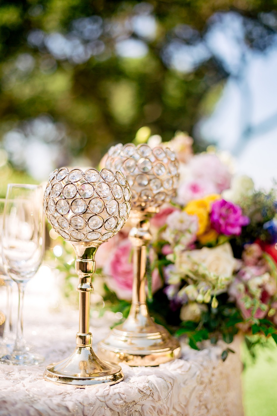 glam wedding table decor