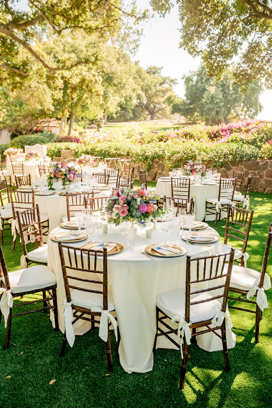 Springtime wedding reception