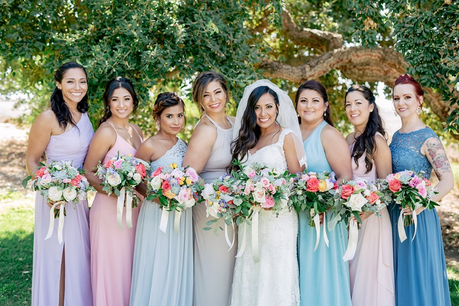 springtime bridal party