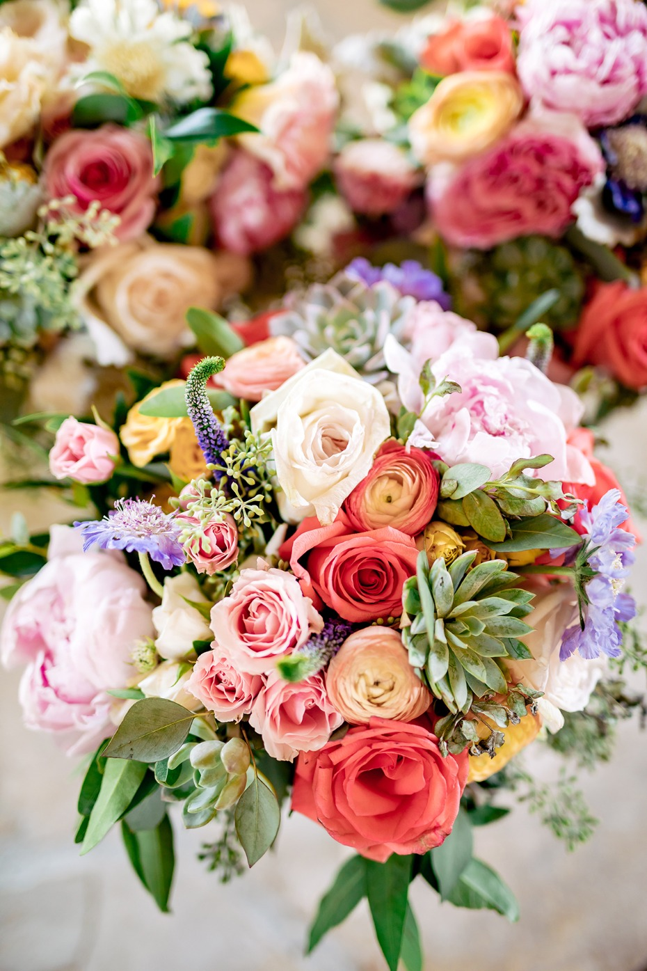 Springtime wedding bouquets