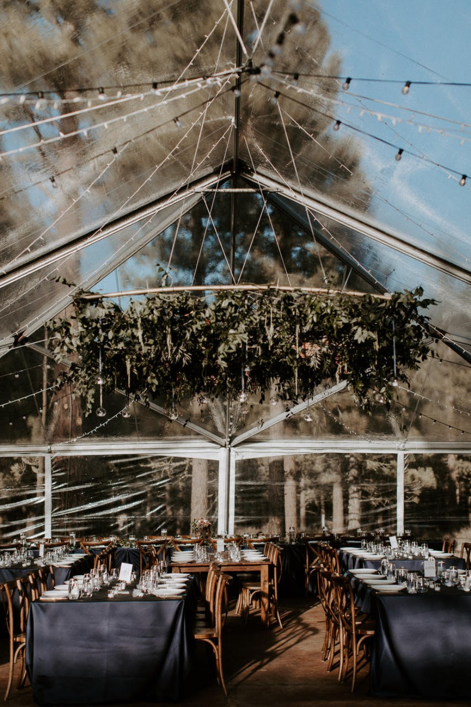 Tented reception at Chalet View Lodge