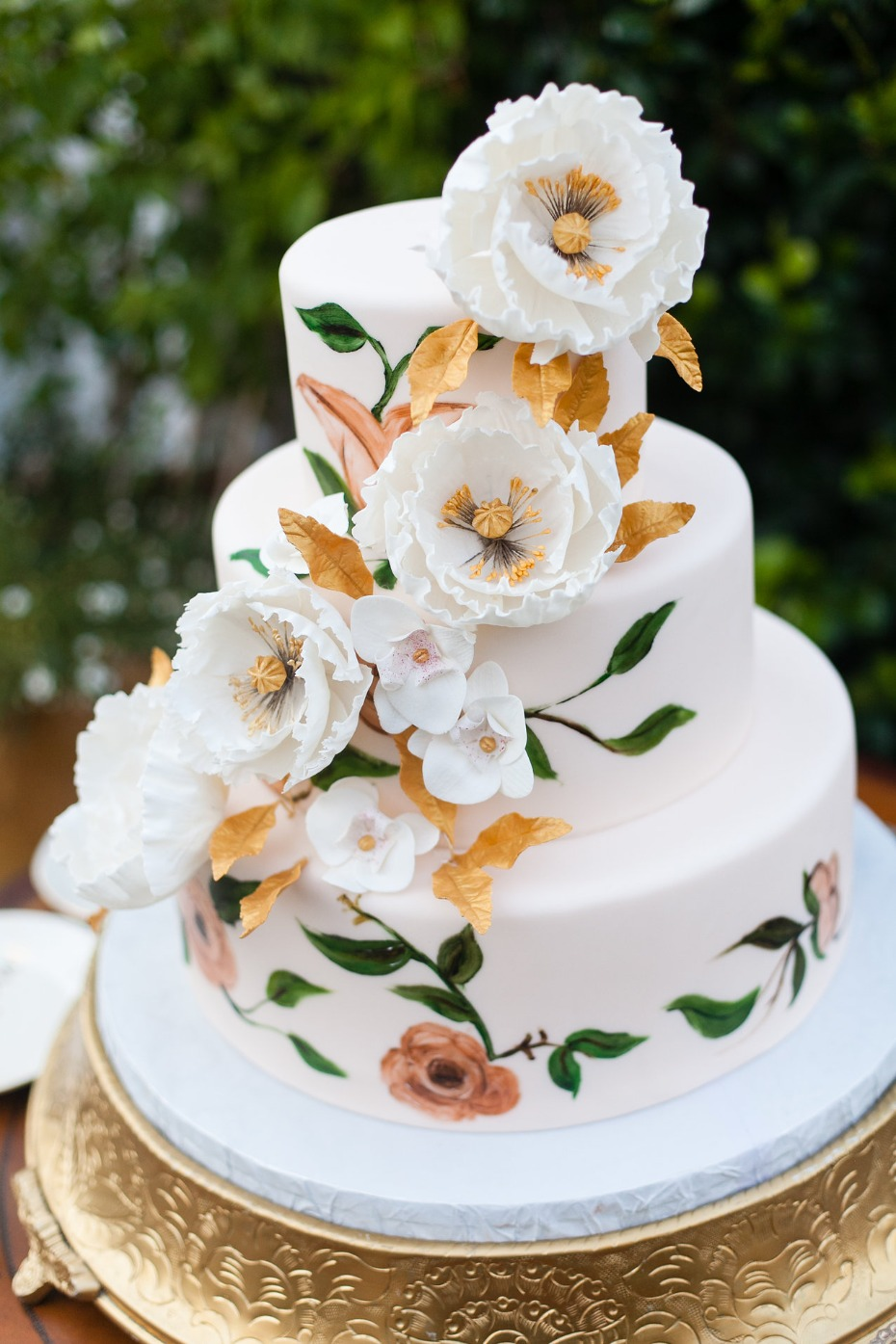 elegant painted wedding cake