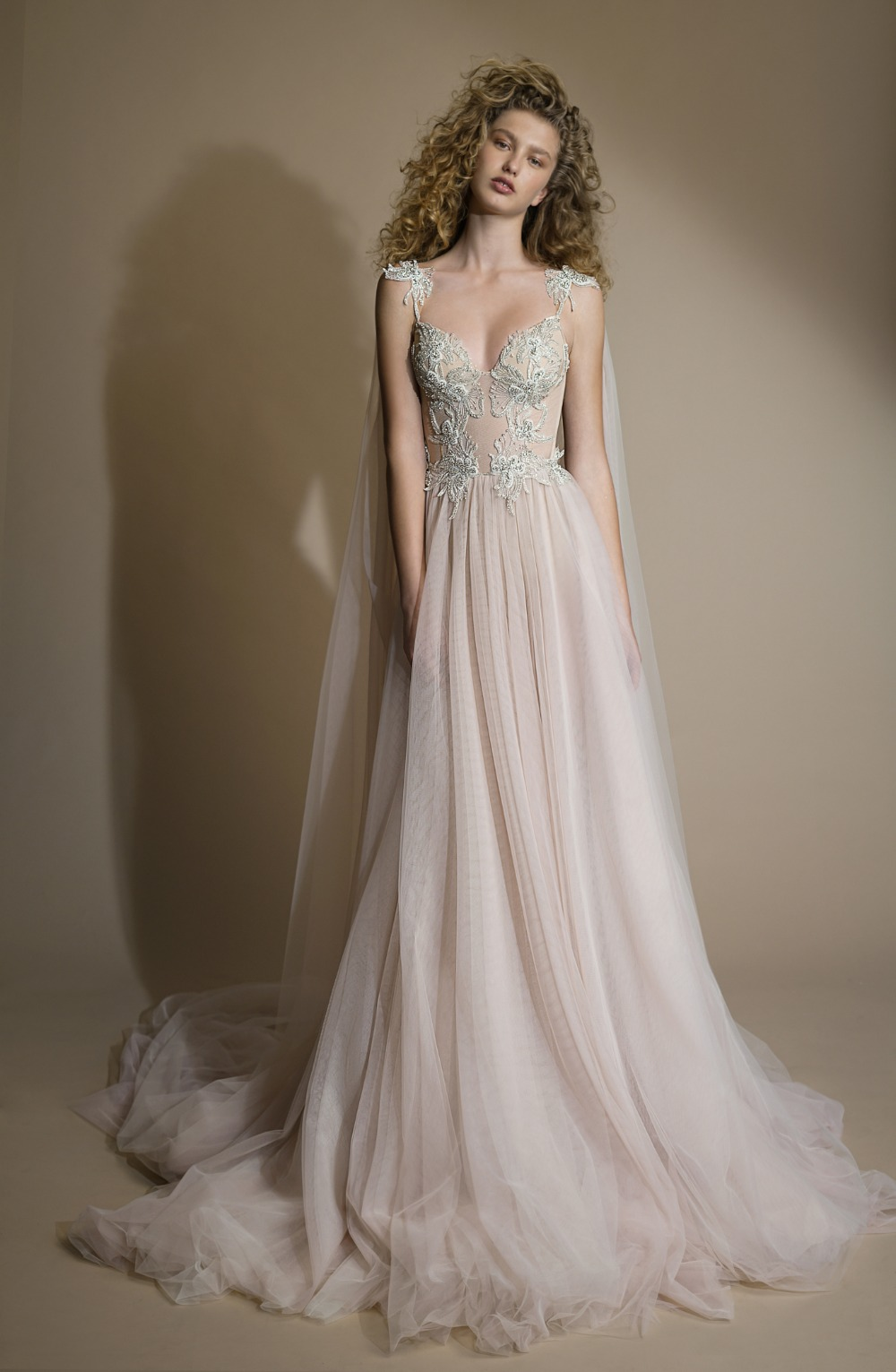 Romantic ballerina ballgown in a dusty rose color  from Galia Lahav