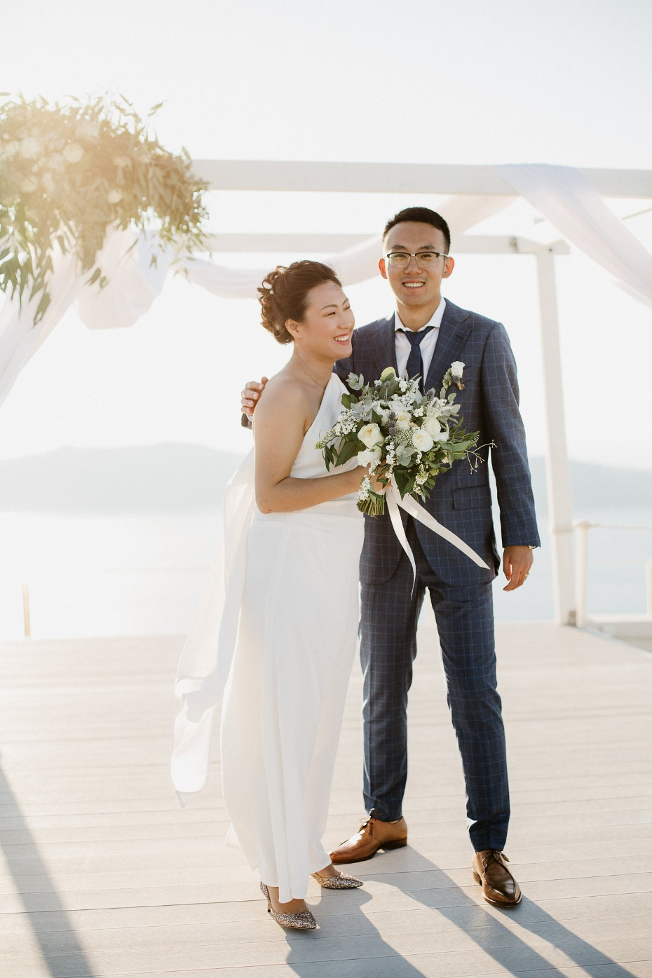 Gorgeous organic modern wedding in Greece