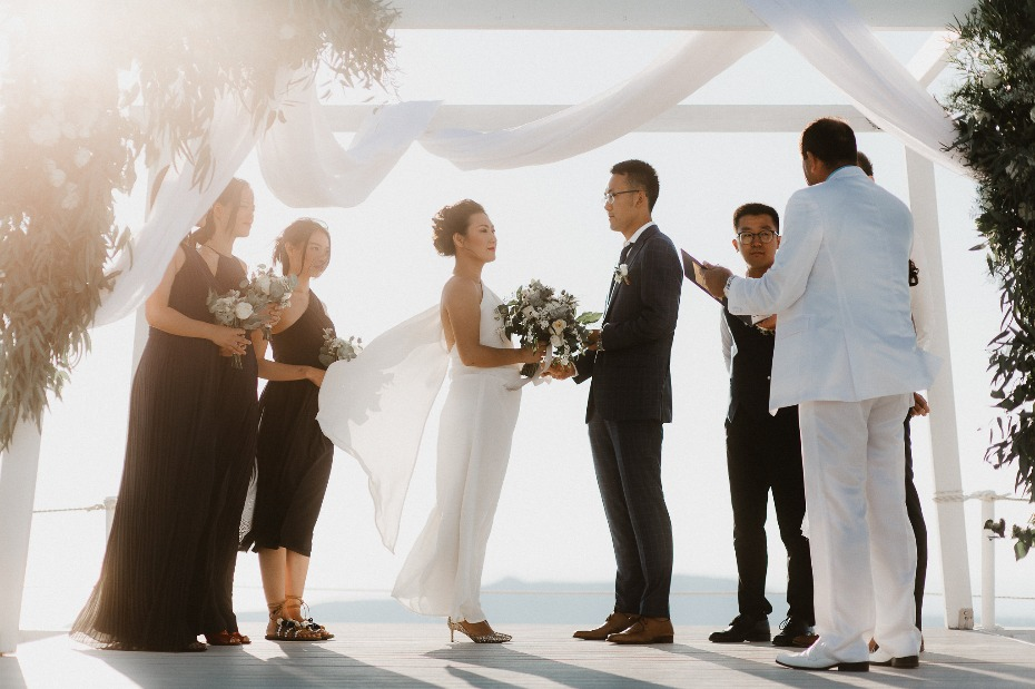 Outdoor ceremony in Greece