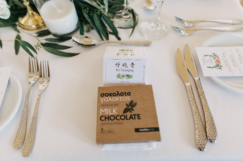 Milk chocolate wedding favors