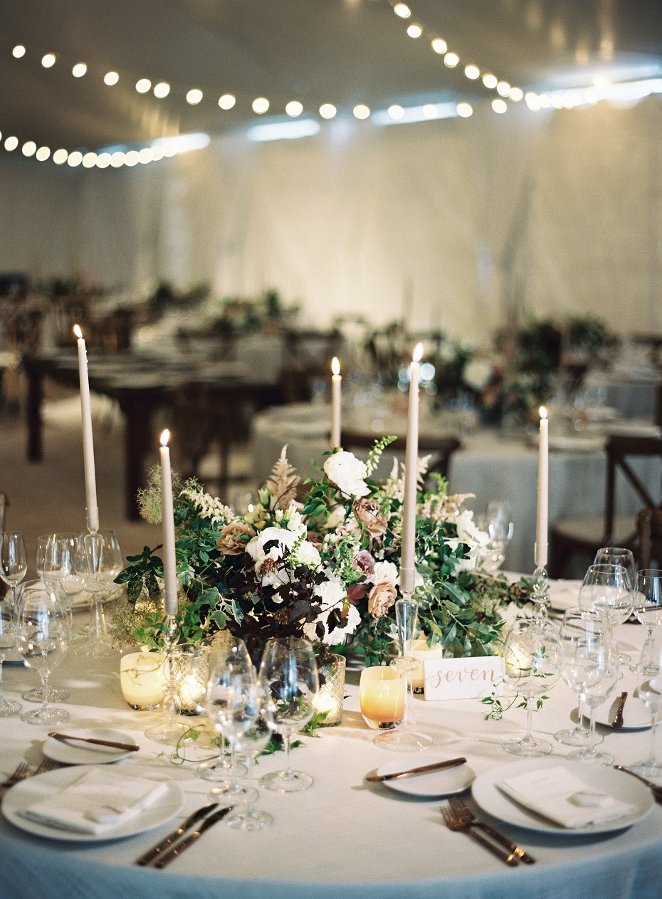 Keep your reception tables simple and elegant