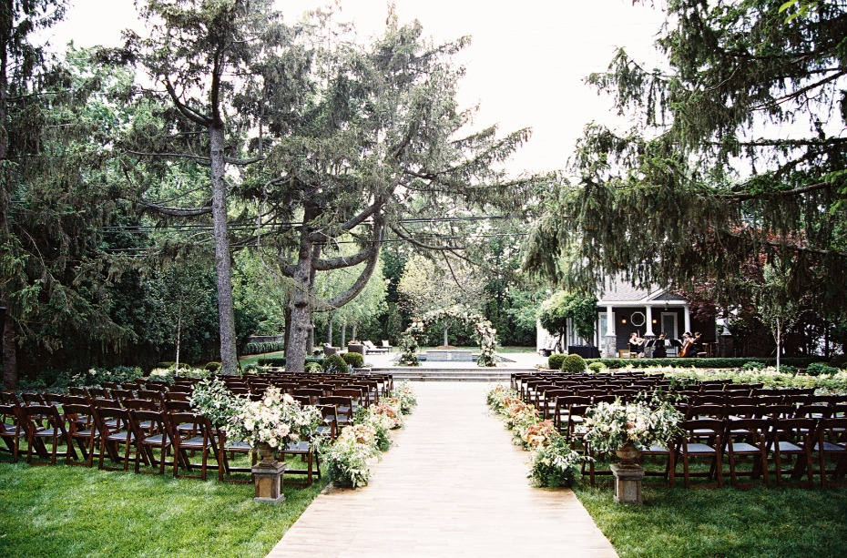 Dreamy backyard wedding