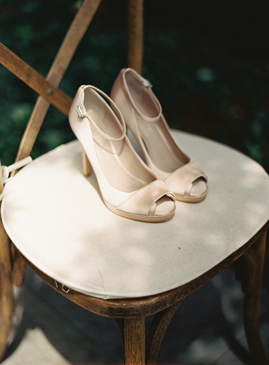 Ankle strap heels for the bride