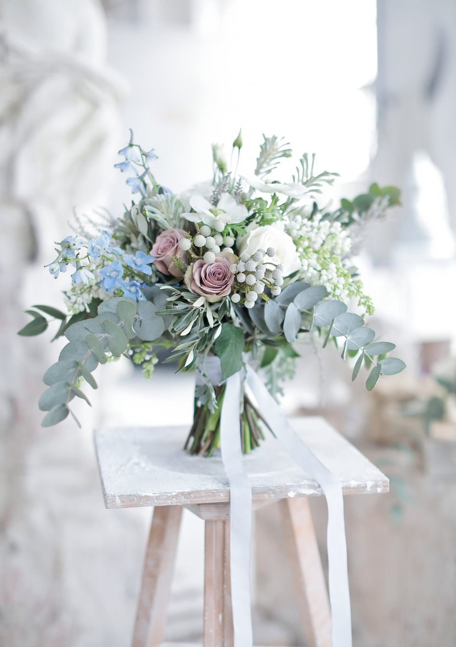 soft pastel wedding bouquet