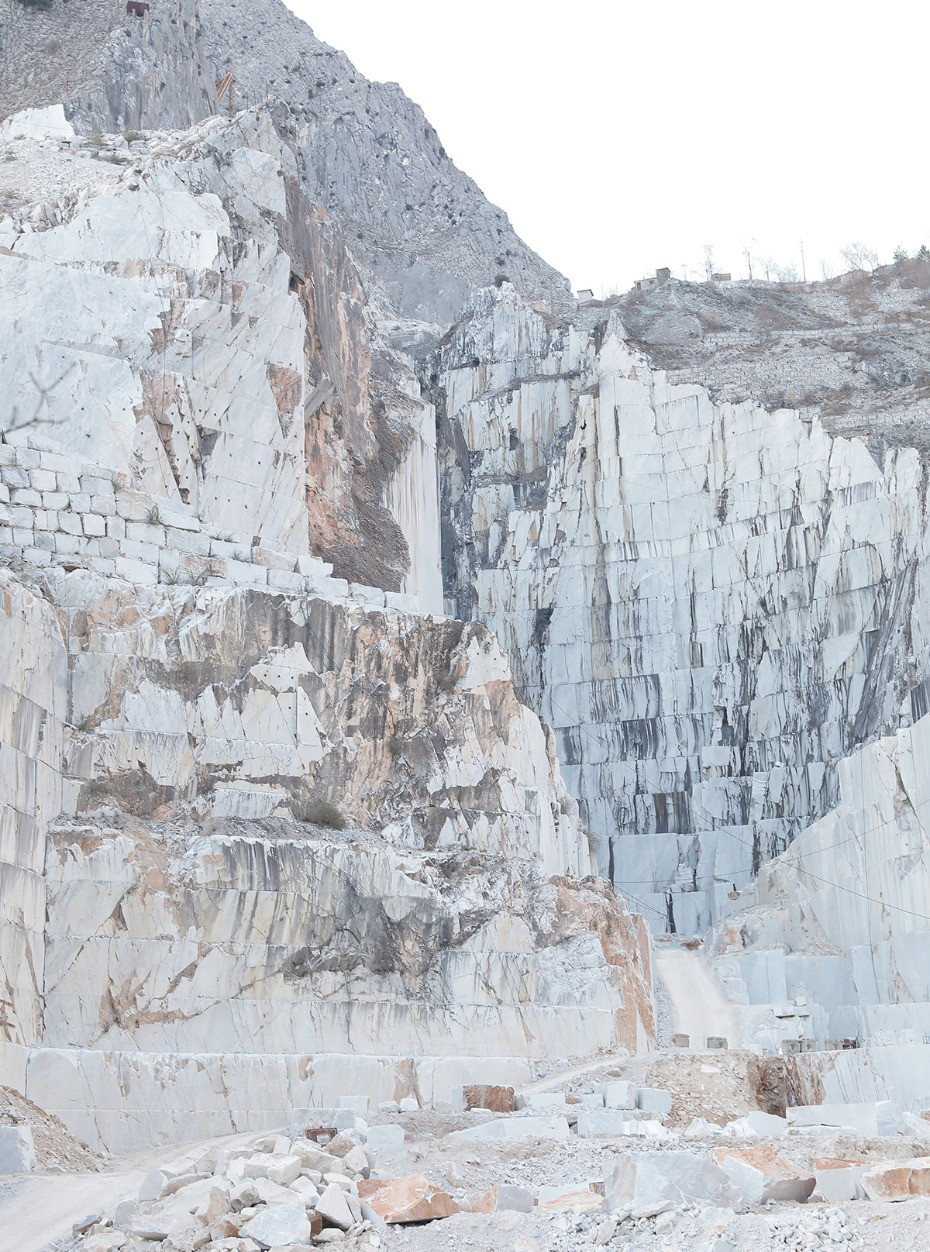 marble quarry in Italy