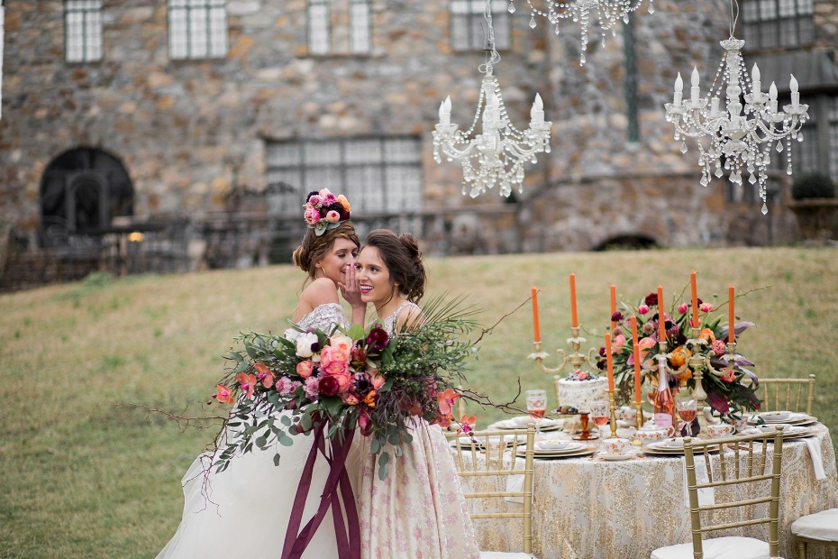 Elegant bohemian wedding inspiration
