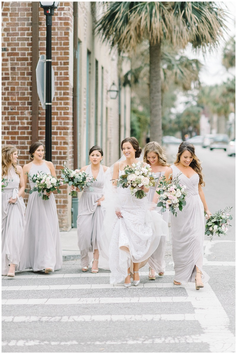 We can't get enough of neutrals for spring and summer! Bridesmaids are in Oyster.