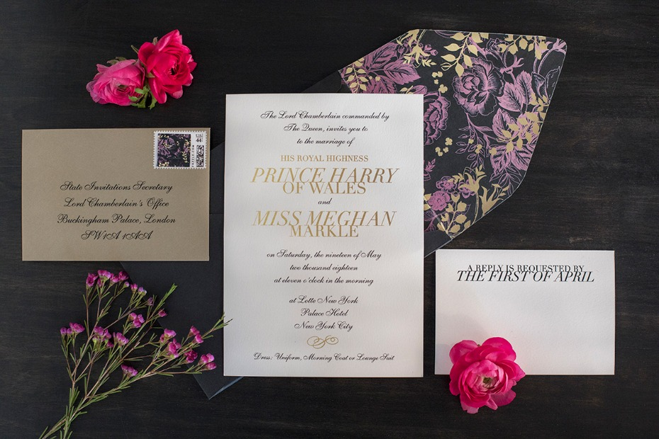 purple gold and black wedding invitations
