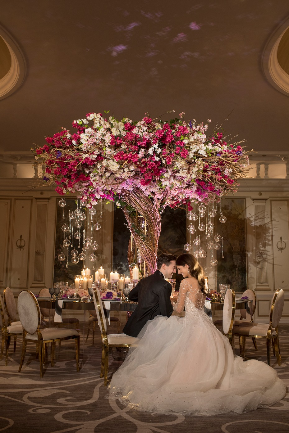 floral wedding tree centerpiece