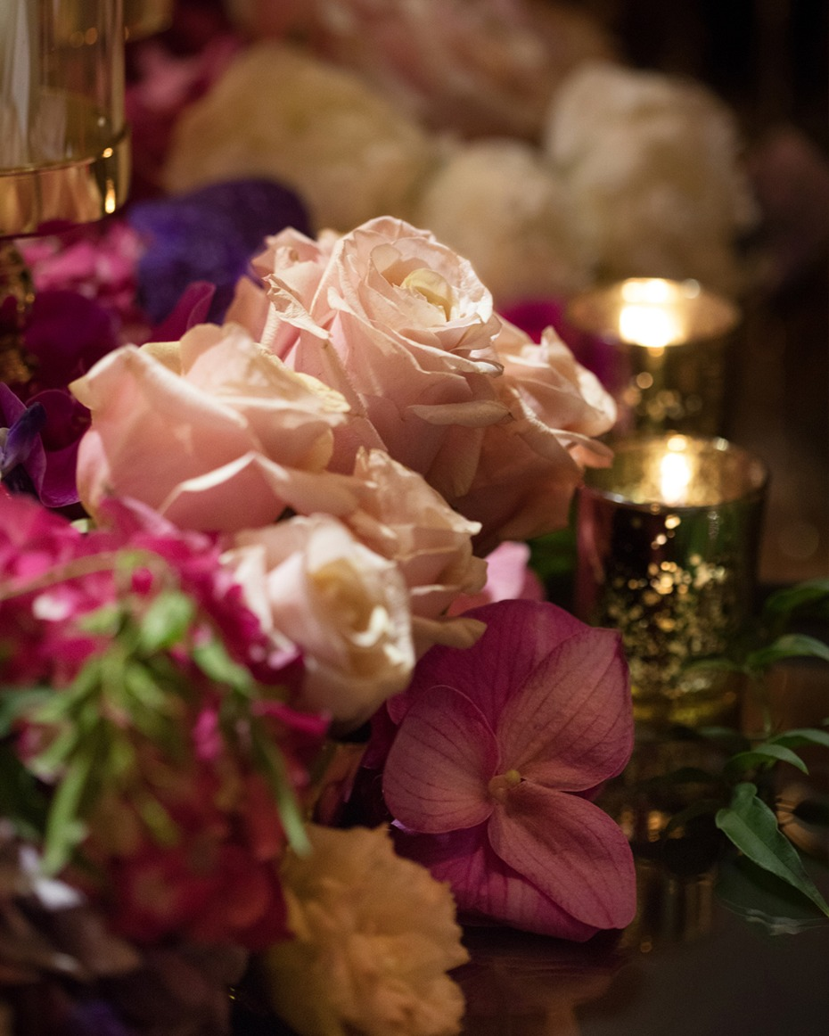 roses and floral for your glam wedding