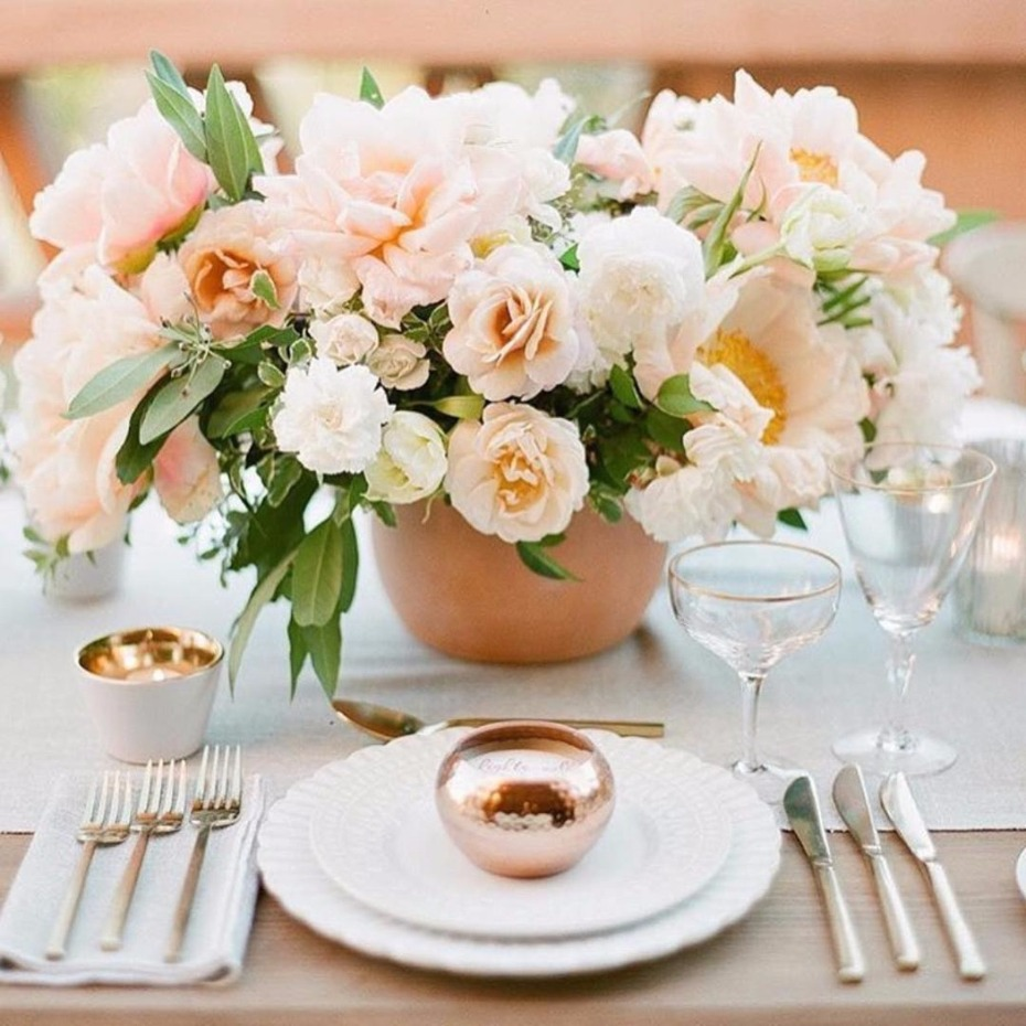 Peach floral arrangement