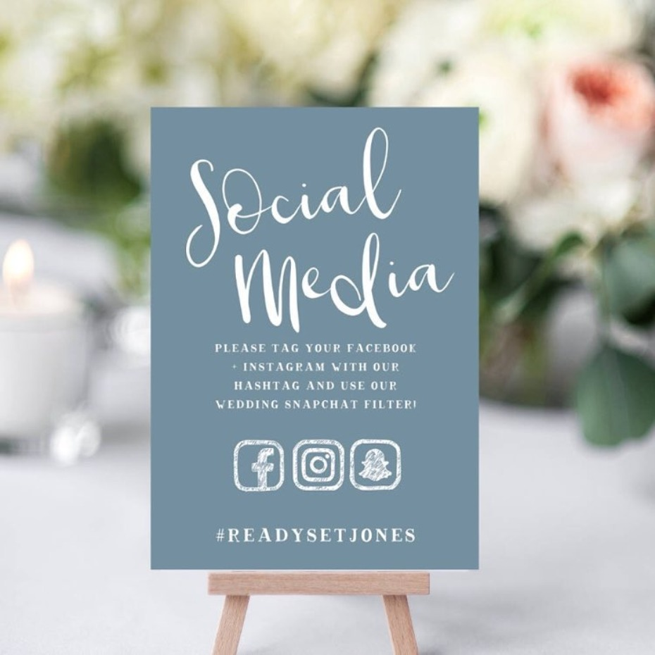 Wedding Hashtag Photo from Love Invites Australia