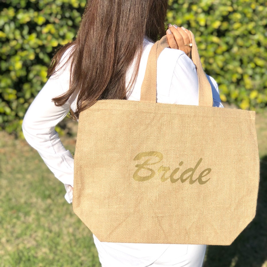 Jute Bride tote from The Tote Bag Factory