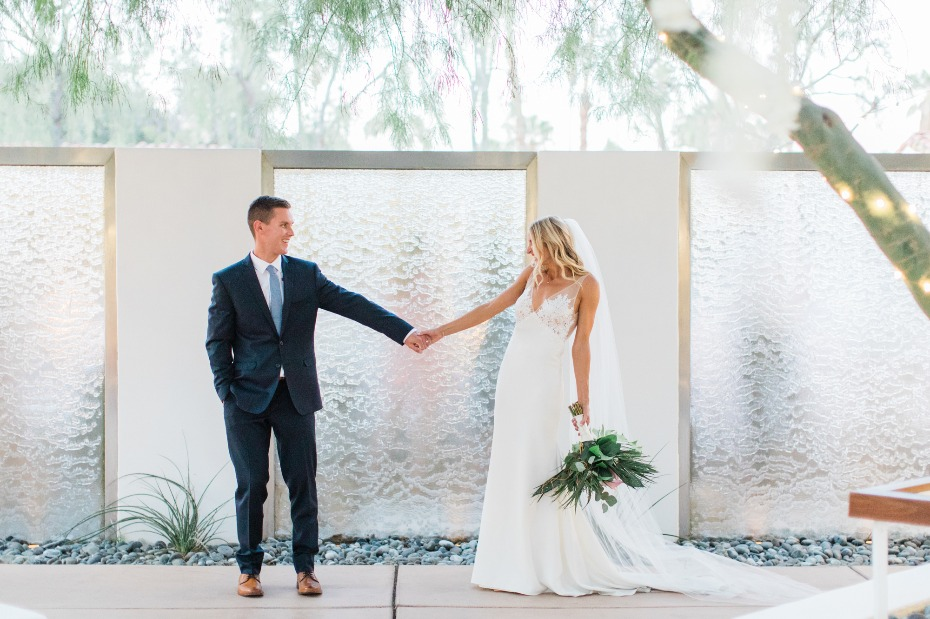 Tropical Palm Springs wedding at Alcazar
