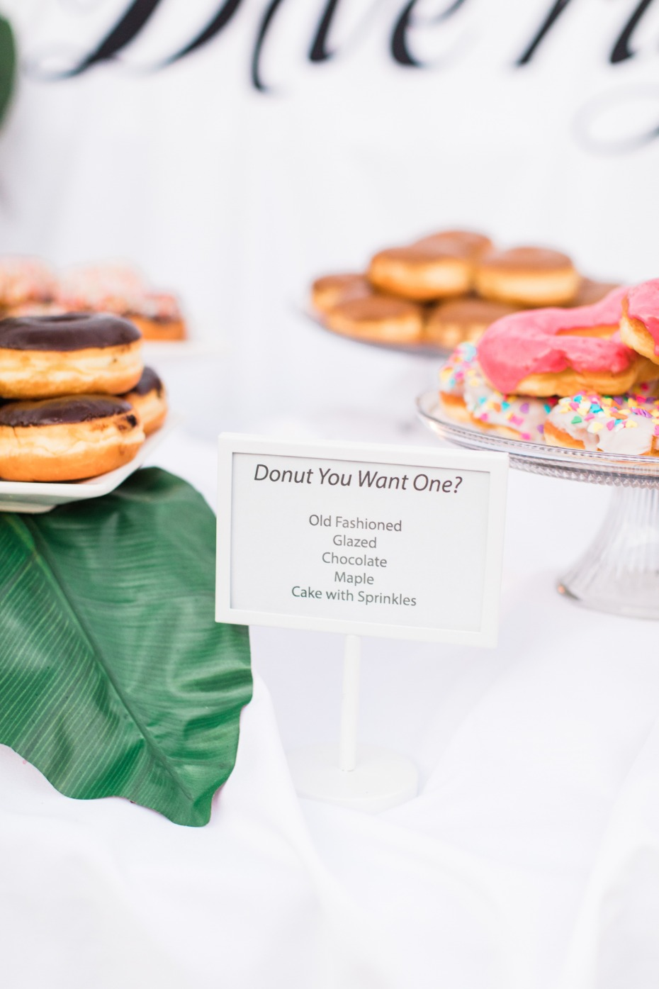 Donut table sign