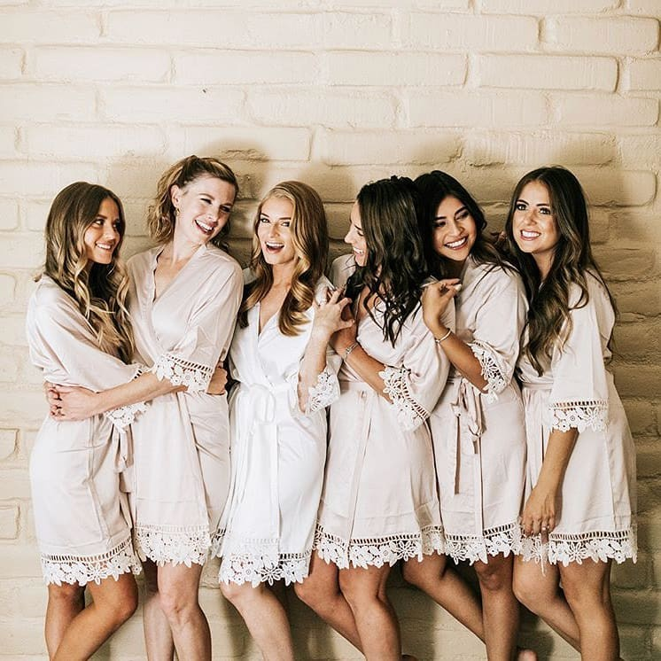 Bride squad goals 🔥 gorgeous ladies wearing their Lauren robes 💗 LR xx