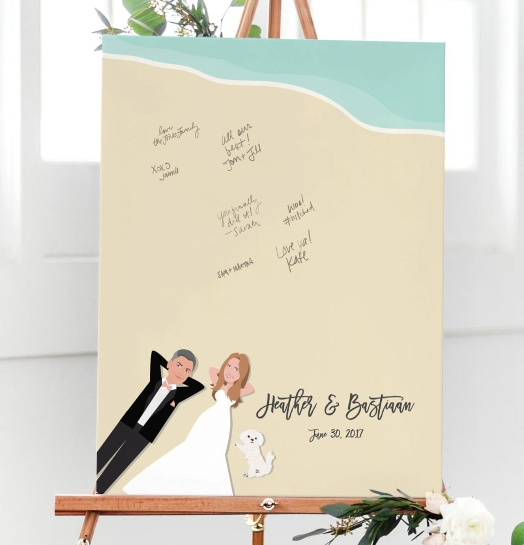 Summer is just around the corner, and if you're having a big beach bash, you should pick up Miss Design Berry's Beach Guest Book Alternative