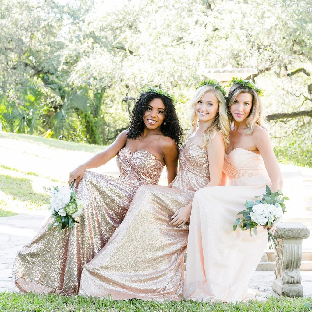 Gorgeous maids in the most glittering of golds.🌟 #ShopRevelry