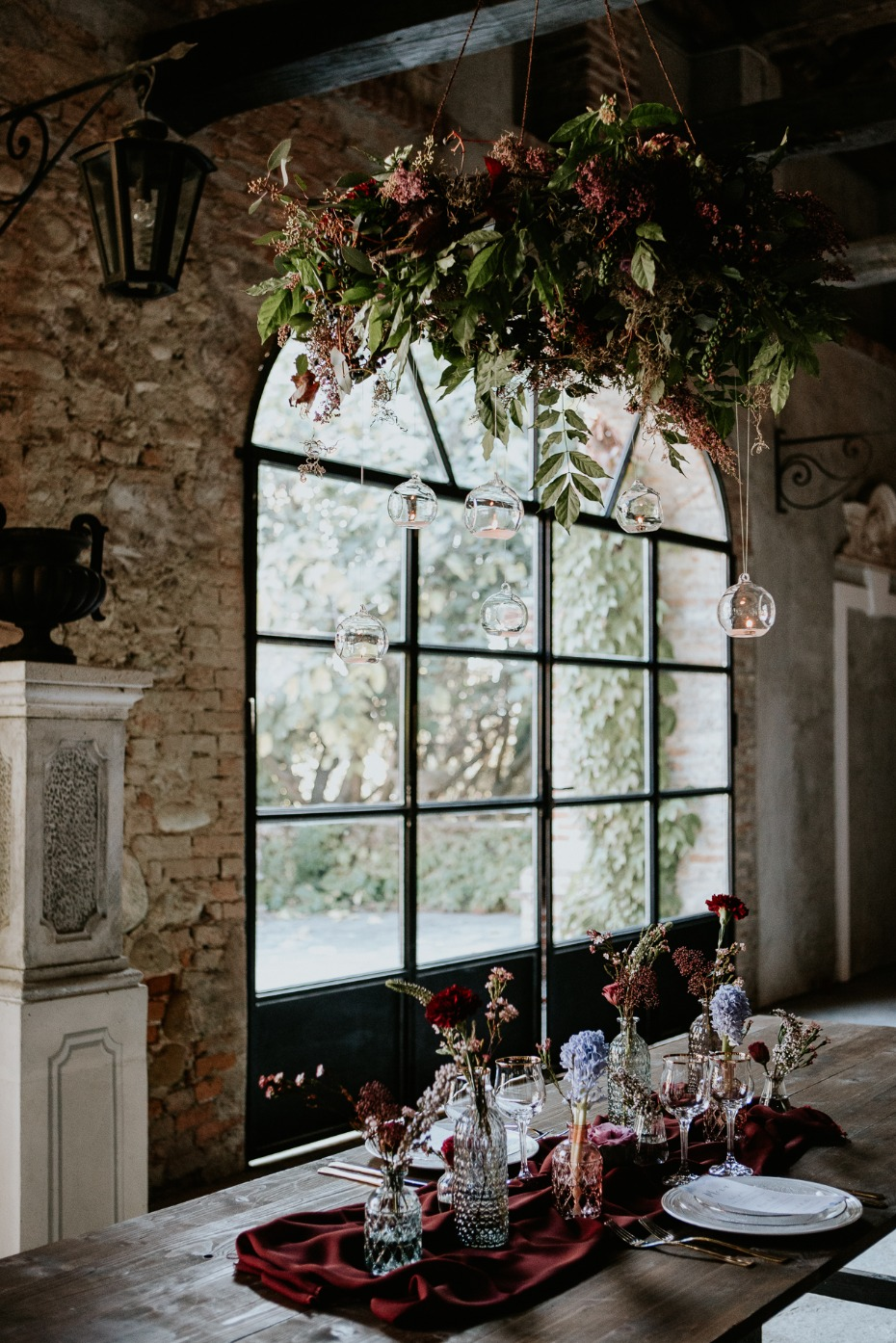 romantic fall wedding table decor